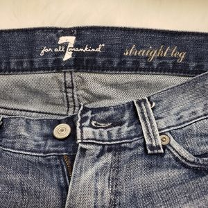 7 for all mankind Straight Distressed Jean's Sz 27